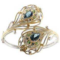 Miadora Sterling Silver Created Blue and White Sapphire with Diamond Accent Ring   Overstock.com Shopping - The Best Deals on Gemstone Rings