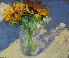 """Sunflowers, 1/13/2016"" by Duane Keiser in Art, Direct from the Artist, Paintings 