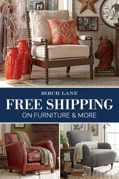 Birch Lane's selection of upholstered chairs offers a style for every taste, from traditional to coastal; vintage-inspired or contemporary and fresh. Choose from deep, comfy arm chairs with rolled arms and button tufting, as well as wingback, rattan, and slipper-style designs. Sign up to receive our emails and find out more about Birch Lane's custom upholstery program, along with updates about exclusive sales, featured products, and more. And, as always, all orders over $49 ship FREE.