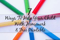7 Ways You Can Help Your Child With Homework, Free Printable, Range of Ideas…
