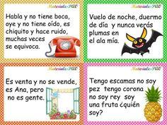 COMPRENSIÓN LECTORA CON Coleccion de adivinanzas coloridas y divertidas Preschool Spanish, Learning Spanish For Kids, Spanish Teaching Resources, Spanish Classroom, Spanish Lessons, Teaching English, Teaching Handwriting, Tongue Twisters, Spanish Alphabet
