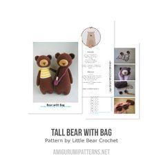 Tall bear with bag amigurumi pattern - Amigurumipatterns.net