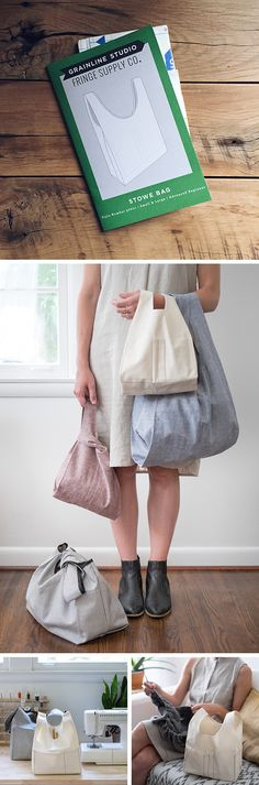 Fringe Supply Co. x Grainline Studio = Stowe Bag sewing pattern