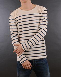 Mads Norgaard - Tash long ecru marine sweatshirt