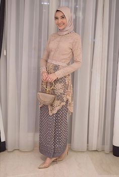 Good for engagement - Hijab+ Kebaya Modern Hijab, Kebaya Hijab, Kebaya Brokat, Dress Brokat, Model Kebaya Muslim, Kebaya Lace, Batik Kebaya, Kebaya Dress, Batik Dress