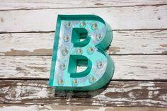 "Big 16"" Old Vintage Style Marquee Letters Metal Steel...........       A B C D E F G H I J K L M N O P Q R S T U V W X Y Z"