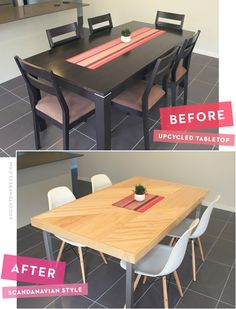 DIY Scandinavian dining area.