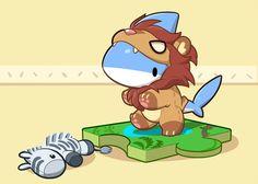 Become a Lion by Vress-shark on DeviantArt Cute Animal Drawings, Kawaii Drawings, Cute Drawings, Anime Animals, Baby Animals, Cute Animals, Pet Shark, Dibujos Cute, Cute Comics