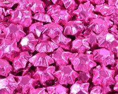 A bulk Foiled Chocolate Stars Hot Pink box.
