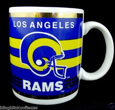 BAM! Blast from the Past! Los Angeles Rams Football Vintage Collector's Mug NFL Officially Licensed item -- BlingBlinky.com