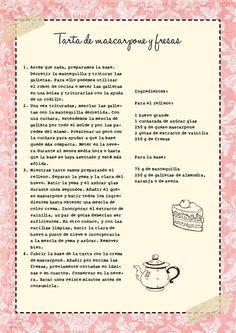 Tarta de mascarpone y fresas {Loca por las fresas…y sin encender el horno} «