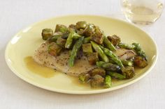 Broiled Red Snapper with Lemon-Asparagus Veggie Toss