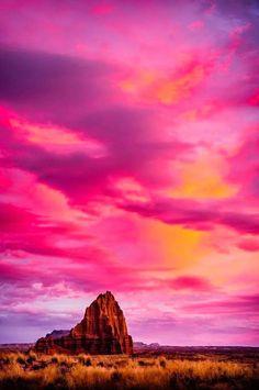 Temple of Sun, Capitol Reef National Park, Utah