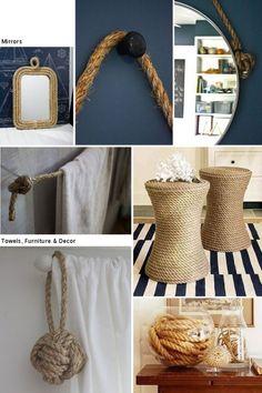 carro de mola Inspiração Decor: decoração rústica com cordas.