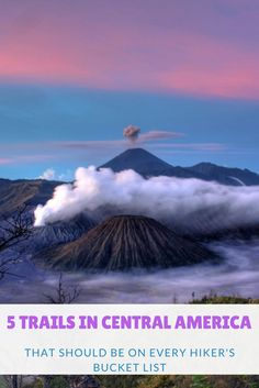 Central America is a hiker's paradise with hundreds of mountains and the Ring of Fire. You'll find an incredible 110 volcanoes with 37 of them in Guatemala alone!
