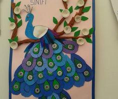 peacock bulletin board idea for kids (2)