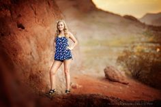 Senior Portrait photography at Papago park located in Phoenix, AZ near Scottsdale