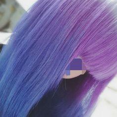 WEBSTA @ oha_y0 - ピンクが色落ちしてきたので素敵にしてもらいました。#派手髪 #ヘアカラー #パープル #マニックパニック #ブルー #髪色