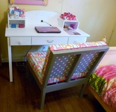 Free DIY Furniture Plans to Build a Pottery Barn Kids Inspired Madeline Desk & Hutch (refashion as a vanity?)