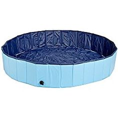 Pettom Foldable Large Dog Aerated Gas-filled PVC Swimming Pool Bathing Tub Bathtub Blue Large