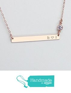 Long Skinny Bar Necklace, Personalized Engraved Nameplate Necklace, CZ Diamond Jewelry, Thin Gold Name Bar Necklace, 14k Rose or Gold Fill, 925 Sterling Silver from HotMixCold https://www.amazon.com/dp/B0186H6OM6/ref=hnd_sw_r_pi_dp_PkqHxb2518Z3M #handmadeatamazon