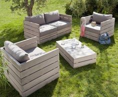 Charmant Outdoor Furniture Made From Pallets | Garden Furniture . The Key Word Here  Is U201cfurnitureu201d. In The .
