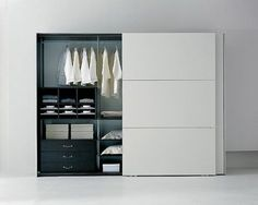 Bedroom Cupboard Designs. I like the sliding doors.