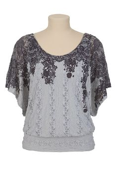Printed Lace Flutter Sleeve Top $29.00 #fashion #womensfashion