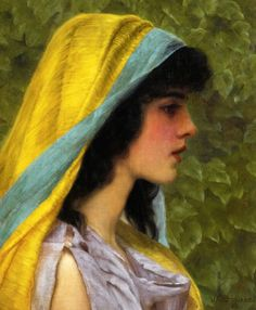 Melissa John William Godward 1898 Private collection Painting - oil on canvas Height: 36 cm in.), Width: 31 cm in. John William Godward, William Adolphe Bouguereau, Aesthetic Painting, Aesthetic Art, Canvas Art Prints, Oil On Canvas, Melissa Johns, Lawrence Alma Tadema, John Everett Millais