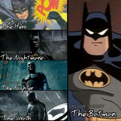 the animated Batman series and Batman Beyond will always be my FAVE VERSION