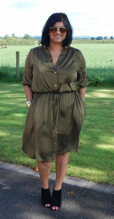 Simplicity 8084 washed stretch silk dress. Full details on sewmanju.wordpress.com