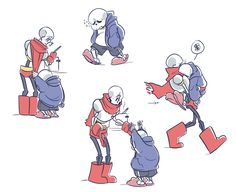 """sans and papyrus - utstuff: """" Small brother has a sad. """""""