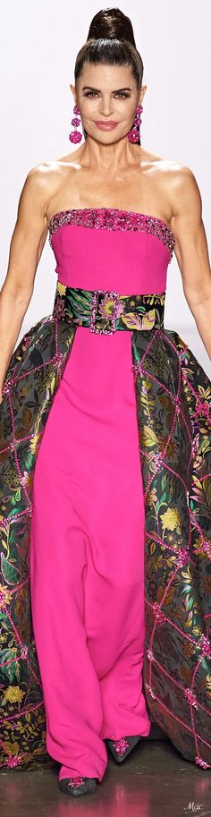 High Fashion, Fashion Show, Dennis Basso, Strapless Dress Formal, Formal Dresses, Pink Outfits, Couture, Fashion Labels, Glamour