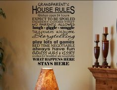 Grandparents house rules #0340