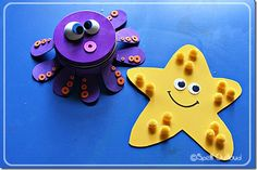 Under the sea, simple starfish craft, maybe for the little ones