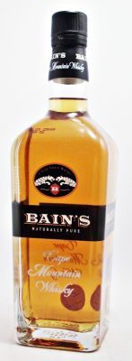 Bain,s Cape Mountain Single Grain Whisky Nose: Combination of toffee, floral and vanilla aromas Scotch Whiskey, Bourbon Whiskey, Grain Whisky, Blended Whisky, Malted Barley, Single Malt Whisky, Hooch, Distillery, Vodka Bottle