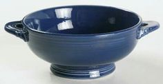 Cobalt cream soup bowl
