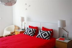 LAPPLJUNG RUTA cushions with red bed linens | live from IKEA FAMILY
