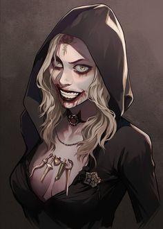 Tyrant Resident Evil, Resident Evil Girl, Sucubus Anime, Fanarts Anime, Fan Art, Character Art, Character Design, Evil Art, Vampire Art