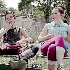 carl, debbie, and shameless by lol | We Heart It