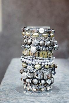 miles of bracelets Love Bracelets, Silver Bracelets, Bella Rose, Beaded Jewelry, Jewellery, Bracelet Watch, Jewels, Sterling Silver, Beads