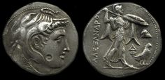 Ptolemy I as Satrap of Alexander the Great (323-305 B.C.) Silver Tetradrachm, Coins, Greek Hellenistic Macedonian, Civilization - History of Macedonia Greece   #Macedonia #Macedonian #Greece #History #coins #drachma #Ptolemy #money #ancient #Egypt #Ptolemaic #Cleopatra
