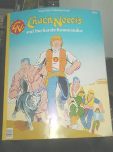 large old 1987 chuck norris coloring book kick boxing