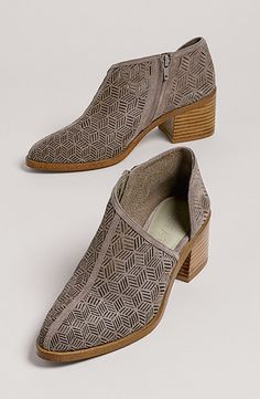 Iddah Perforated Cutaway Bootie Nordstrom Sale
