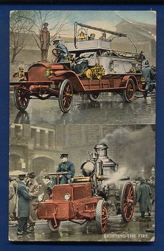 Old School Fire Rescue #FireFighter - a right hand drive engine.