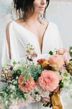 That dress! http://www.stylemepretty.com/2015/06/26/modern-fresh-industrial-south-carolina-wedding/ | Photography: Finch & Farrow - http://finchandfarrow.com/