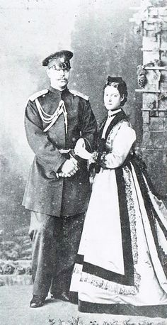 Tsarevitch Alexander and his wife, Grand Duchess Marie Feodorovna of Russia, 1867.