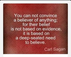 SO WELL SAID. Know what you believe before you just blindly believe it.
