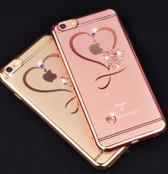 iphone 6 Case Ultra Thin Clean Soft TPU Crystal Phone Cases Rose Gold Plating Glitter Diamond Cover For iphone 6 6 Plus Apple Iphone 6, Iphone 6 Cases, Cute Phone Cases, Phone Covers, Portable Apple, Apple Watch Accessories, Glitter Phone Cases, Iphone Models, 6s Plus