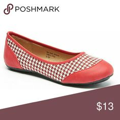 Tory K Checkered Flats, b-1830 Red Brand new Tory K ballerina flats in a beautiful combination of red with a white-checkered center. Soft sole, very comfortable, true to size. Bubbled bottom sole for extra traction. Tory K  Shoes Flats & Loafers